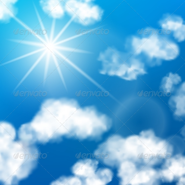 GraphicRiver Sky Clouds Background 7640104