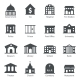 Government Buildings Icons - GraphicRiver Item for Sale