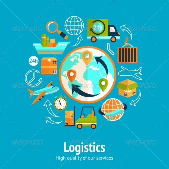 GraphicRiver Logistic Chain Concept 7640132