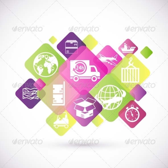 GraphicRiver Logistic Icons Design 7640133