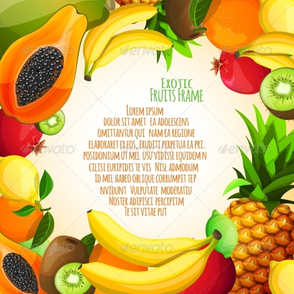 GraphicRiver Exotic Fruits Frame 7640163