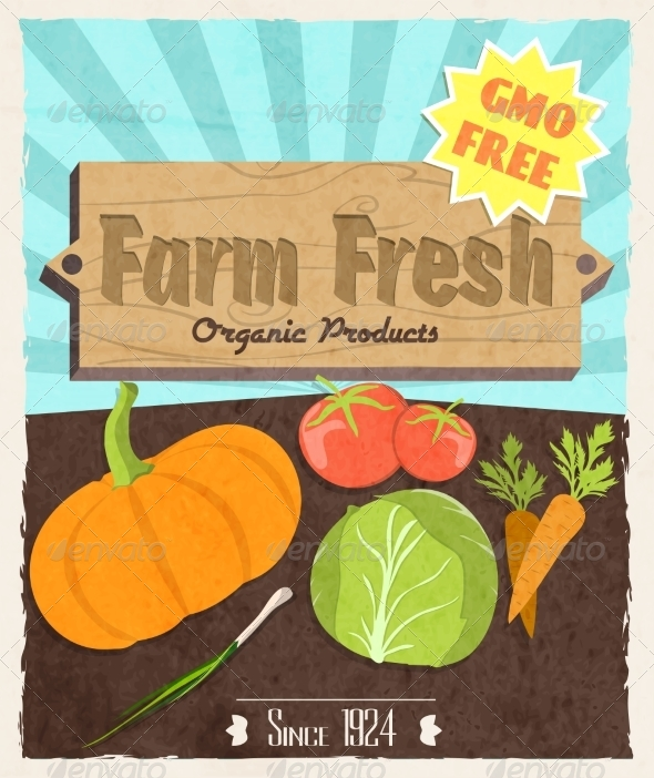 GraphicRiver Vegetable Retro Poster 7640169