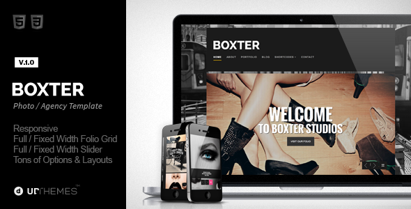ThemeForest Boxter Creative Responsive HTML5 Template 7640223