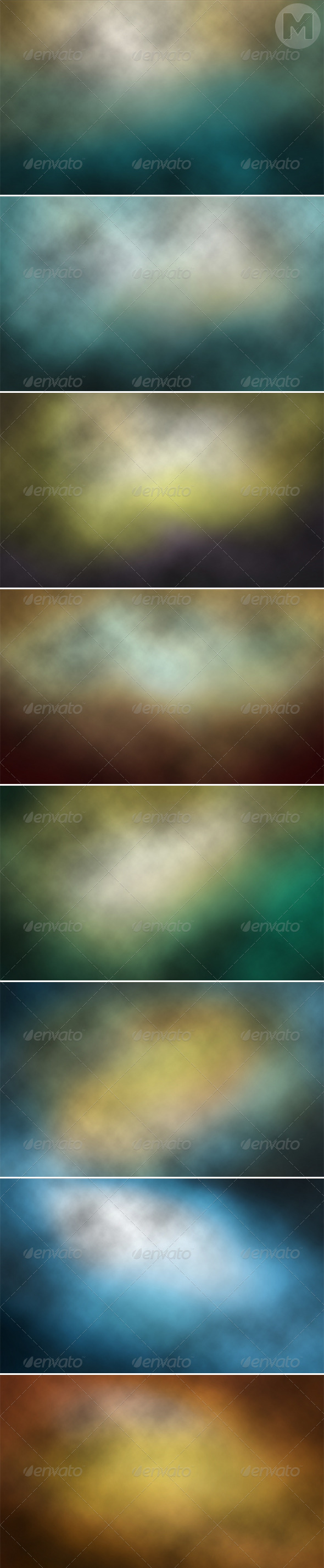 GraphicRiver Clouds Blurred Backgrounds 7640291