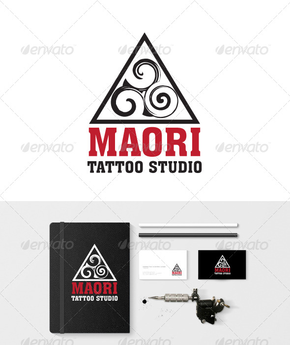 GraphicRiver Maori Ink Tattoo Studio 7640819