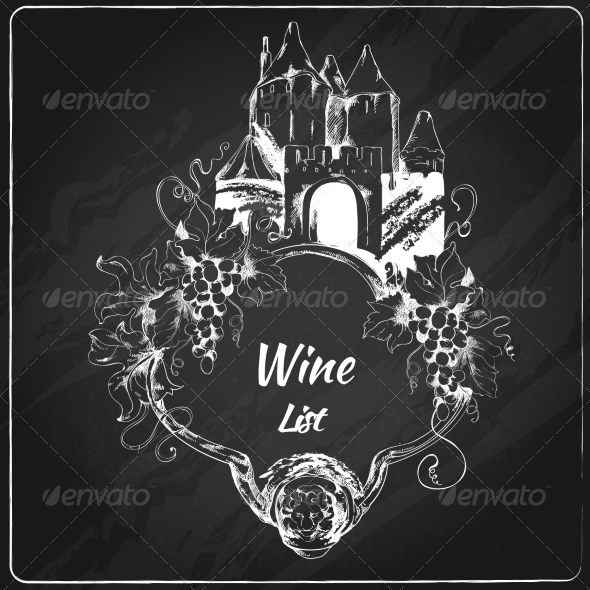 GraphicRiver Wine list chalkboard label 7640884