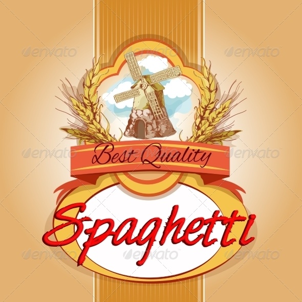 GraphicRiver Spaghetti Pack Label 7640903