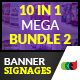 10 in 1 Pro Banner Signages Mega Bundle 2 - GraphicRiver Item for Sale