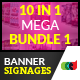10 In 1 Pro Banner Signages Mega Bundle 1 - GraphicRiver Item for Sale