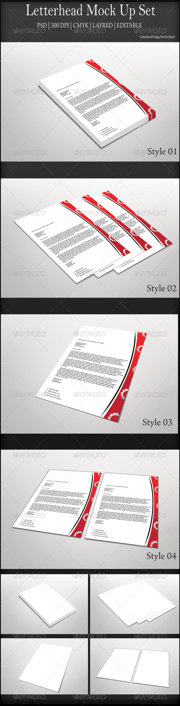 GraphicRiver Letterhead Mock Up Set 7641516