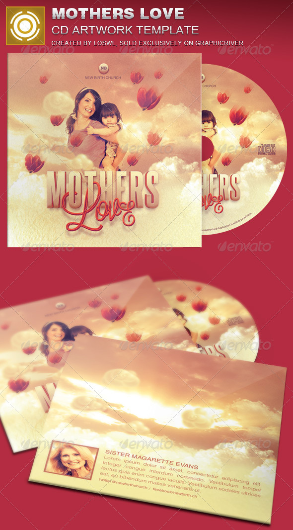 GraphicRiver Mother s Love CD Artwork Template 7628977