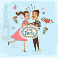 I Love Paris hand-drawn illustration - PhotoDune Item for Sale
