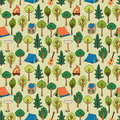 Camping and hiking background seamless pattern - PhotoDune Item for Sale