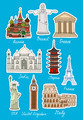 Set of vector travel landmarks icons - PhotoDune Item for Sale