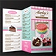 Trifold Cake Menu + Business Card - GraphicRiver Item for Sale
