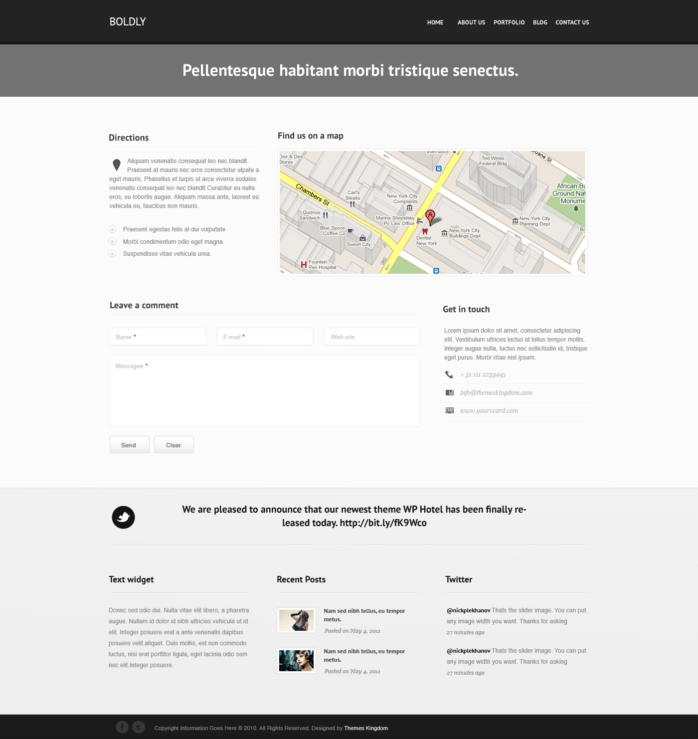 Boldly - Pixel Perfect WordPress Theme