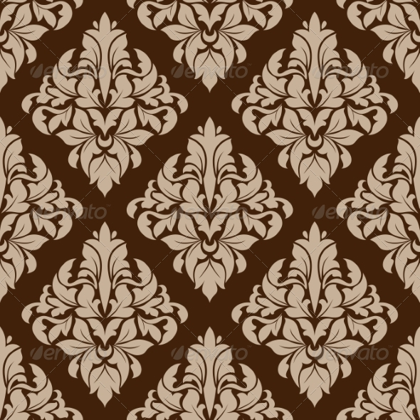 GraphicRiver Seamless Pattern in Almond and Cinnamon Colors 7642447