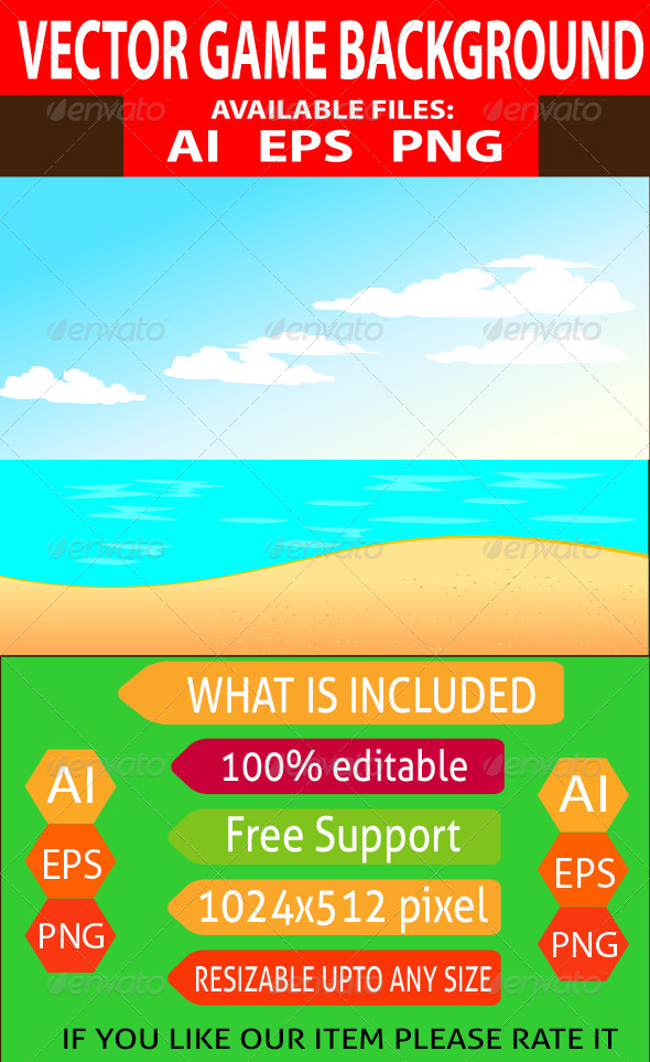 GraphicRiver Ocean Game Background 7643047