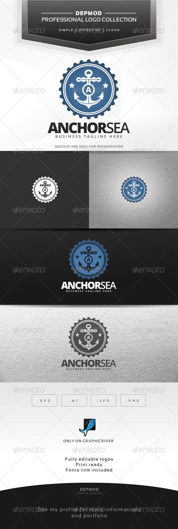 GraphicRiver Anchor Sea Logo 7644298