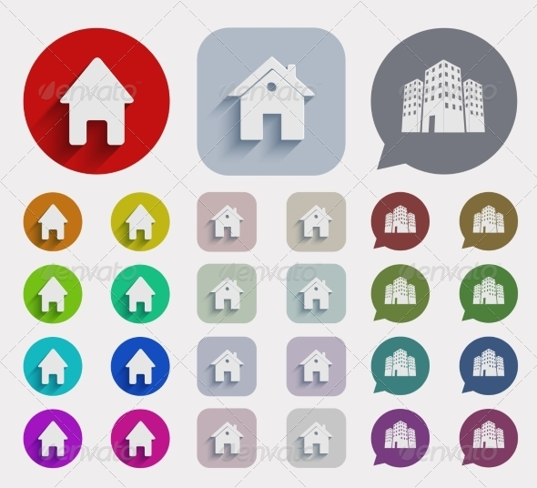 GraphicRiver Flat Real Estate Icons Set 7645238