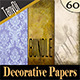 Various Decorative Papers | Bundle - GraphicRiver Item for Sale