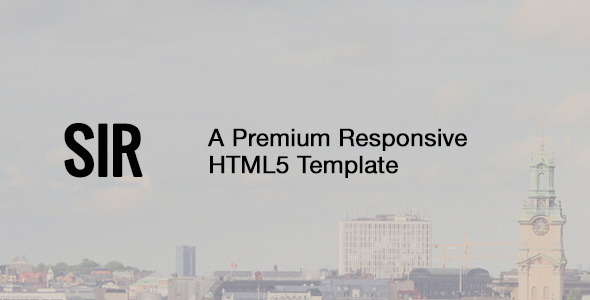 ThemeForest Sir Responsive HTML5 Portfolio Template 7645308