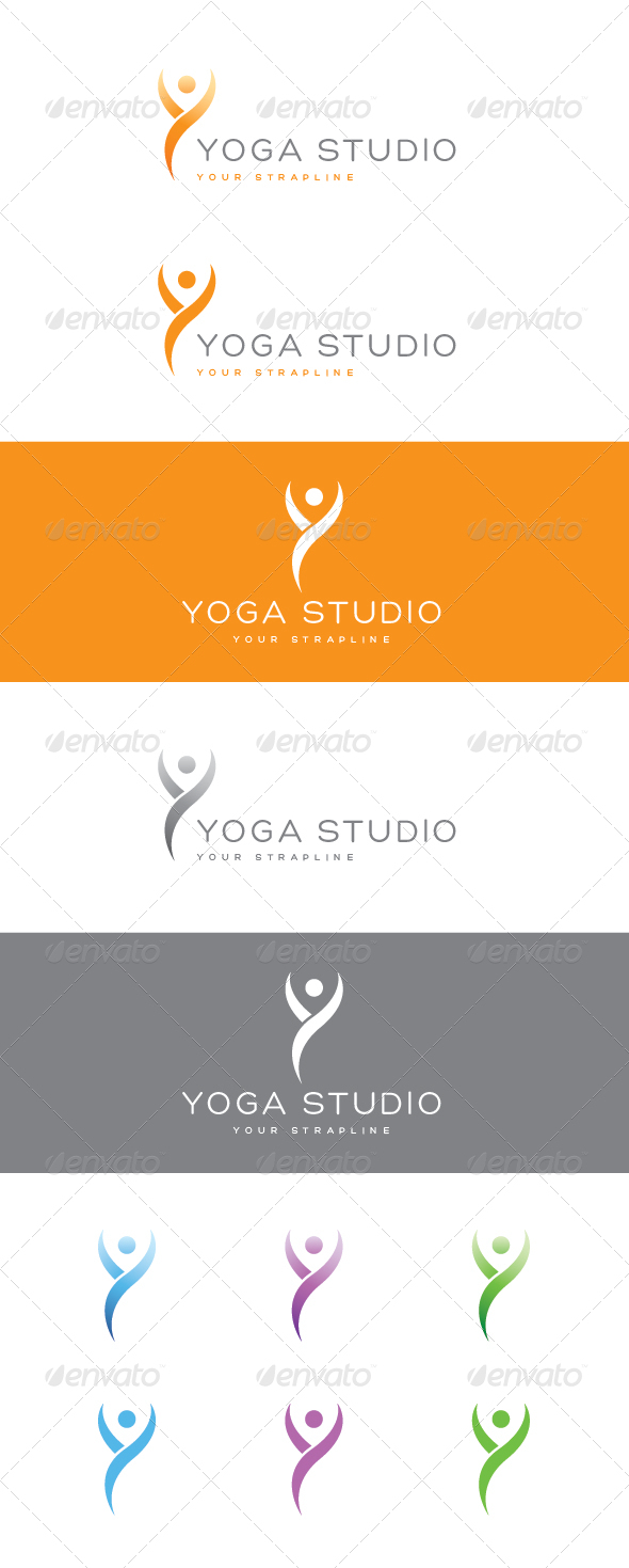 GraphicRiver Yoga Studio Logo 7645808
