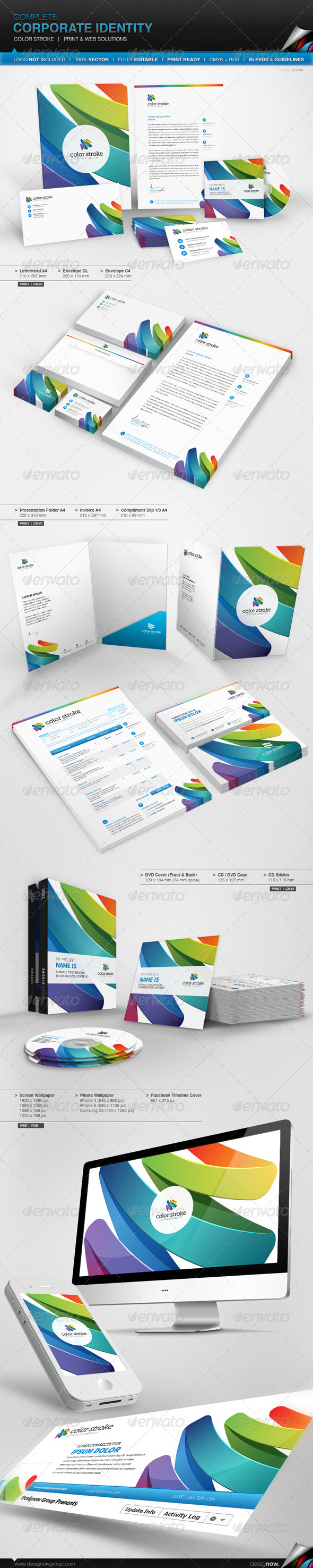 GraphicRiver Corporate Identity Color Stroke 7646147