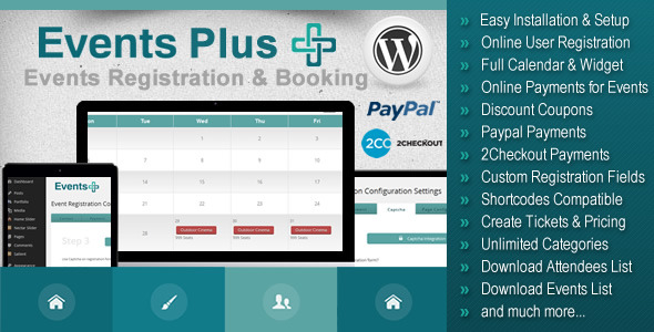 CodeCanyon WordPress Events Registration & Booking Plugin 7647762