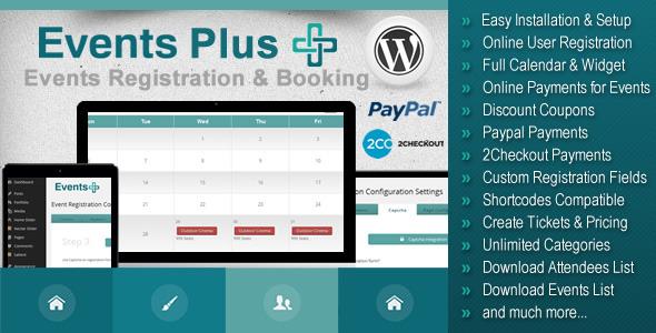 CodeCanyon WordPress Events Registration & Booking Plugin 7647762