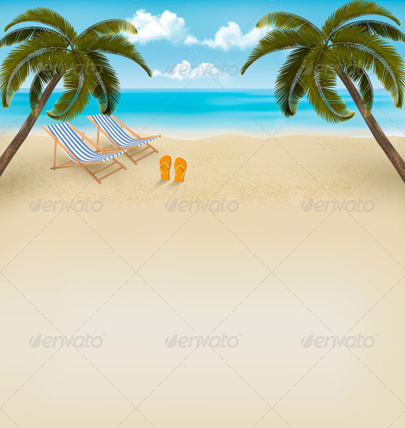 GraphicRiver Retro Summer Vacation Background 7647961