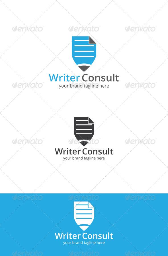 GraphicRiver Writer Consult Logo 7648201