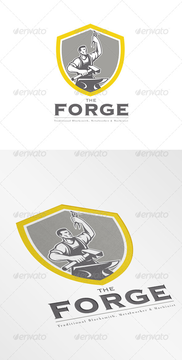 GraphicRiver The Forge Traditional Blacksmith Logo 7648468