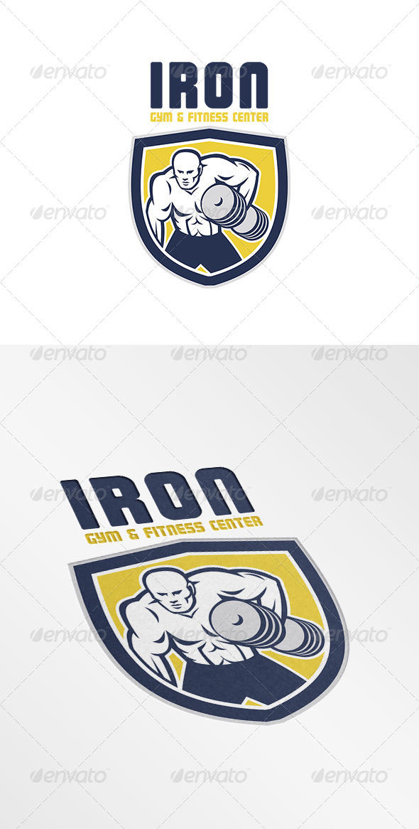 GraphicRiver Iron Gym and Fitness Center Logo 7648469