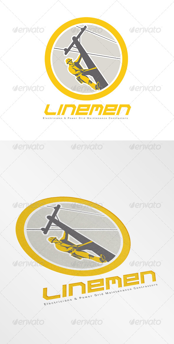GraphicRiver Linemen Electricians Power Logo 7648543