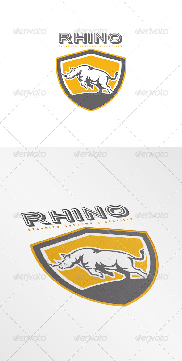 GraphicRiver Rhino Security Systems Logo 7648601