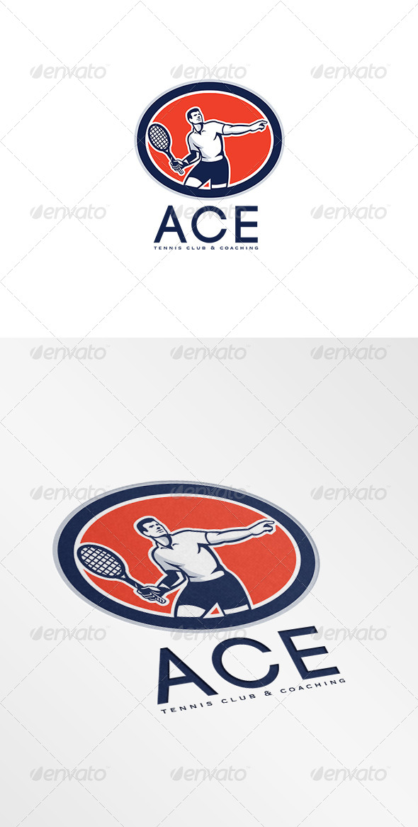 GraphicRiver Ace Tennis Club and Coaching Logo 7648757