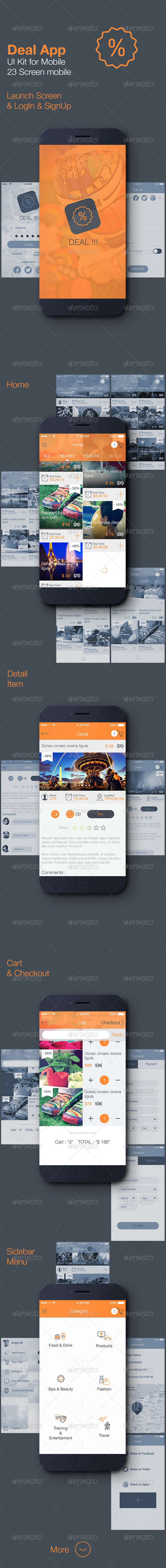 GraphicRiver Deal App Mobile UI Kit 7648908