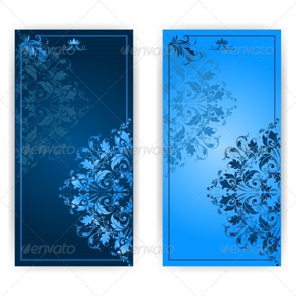 GraphicRiver Invitation Card with Blue Ornament 7649519