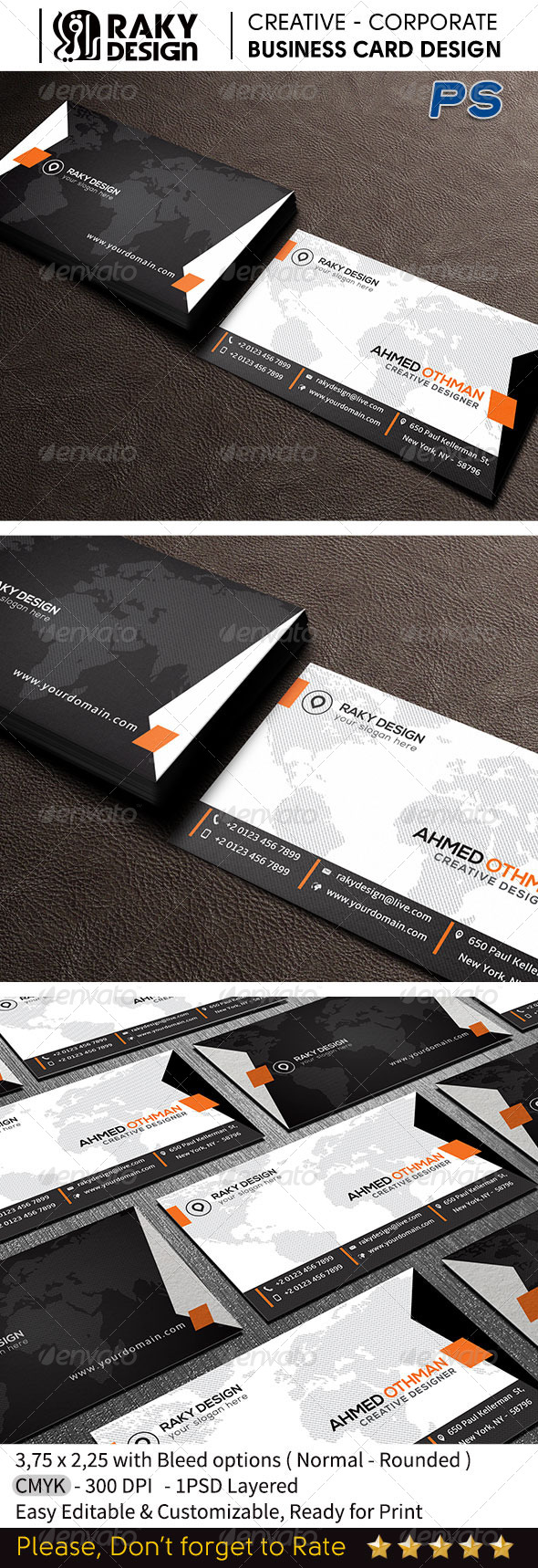 GraphicRiver Modern Corporate Business Card RD15 7649877