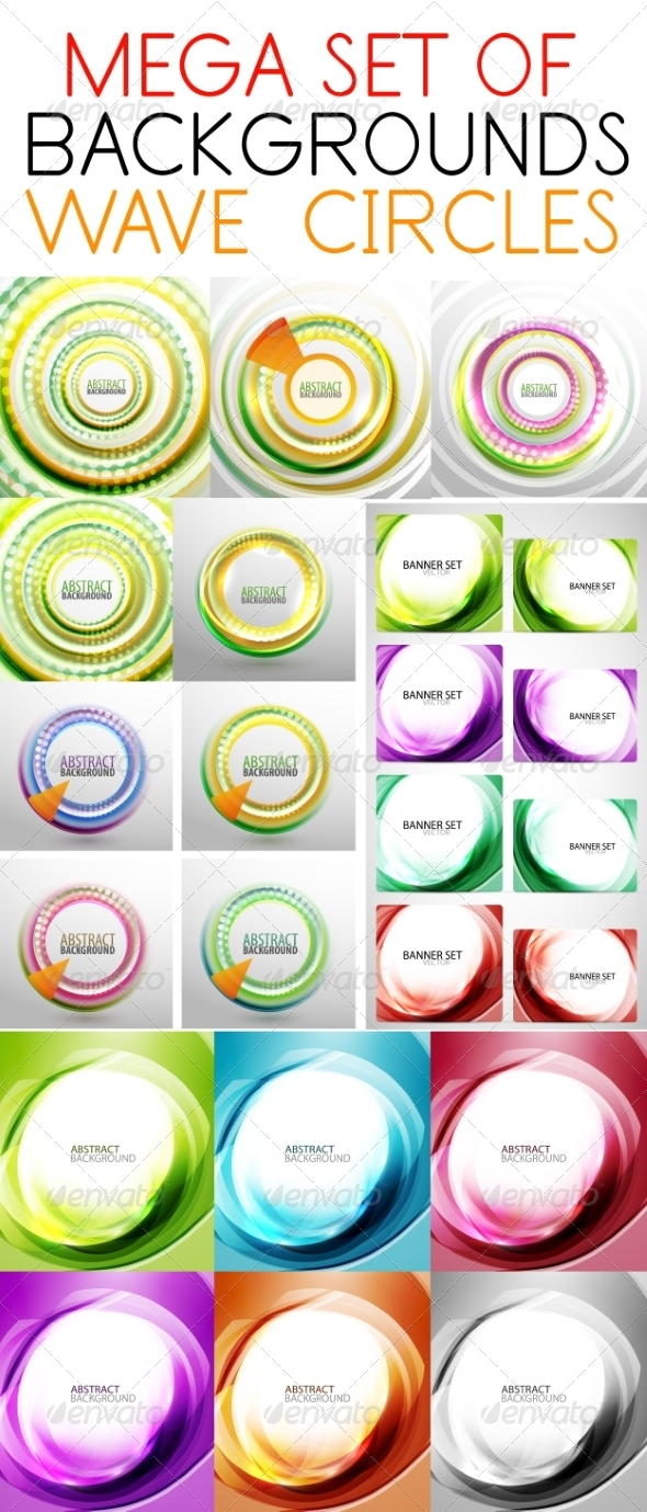 GraphicRiver Set of Smooth Soft Wave Templates 7650344