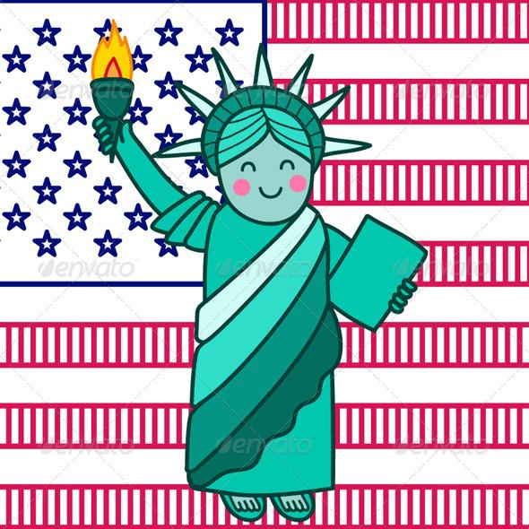 GraphicRiver Statue of Liberty 7650391