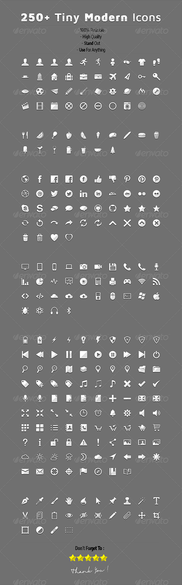 GraphicRiver Tiny Modern Icons 7650563