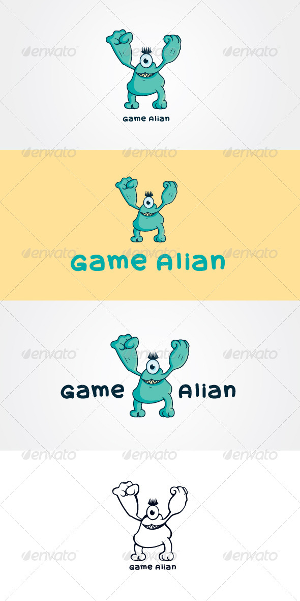GraphicRiver Game Alian Stock Logo Template 7650604