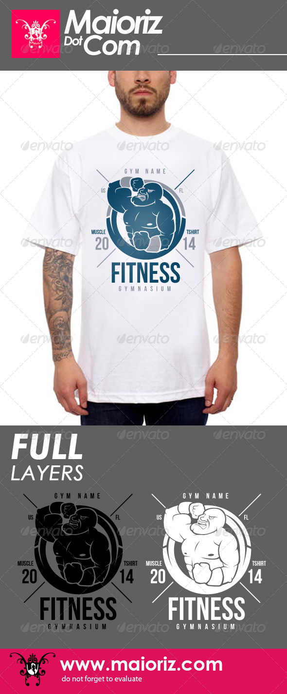 GraphicRiver Gym Muscle Tshirt 7650638