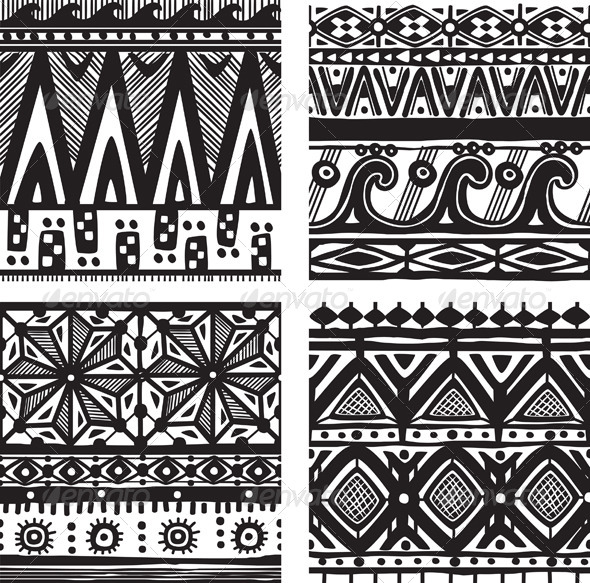 GraphicRiver Seamless Tribal Texture 7651494