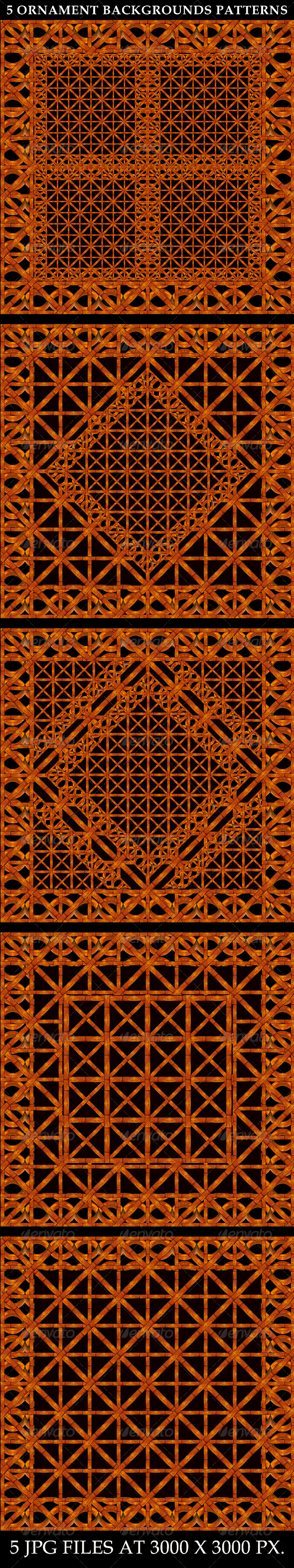 GraphicRiver 5 Refined Ornament Background Patterns 7651779
