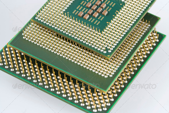 Computer micro processor - Stock Photo - Images