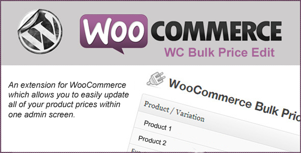 CodeCanyon WooCommerce Bulk Price Edit 7646189
