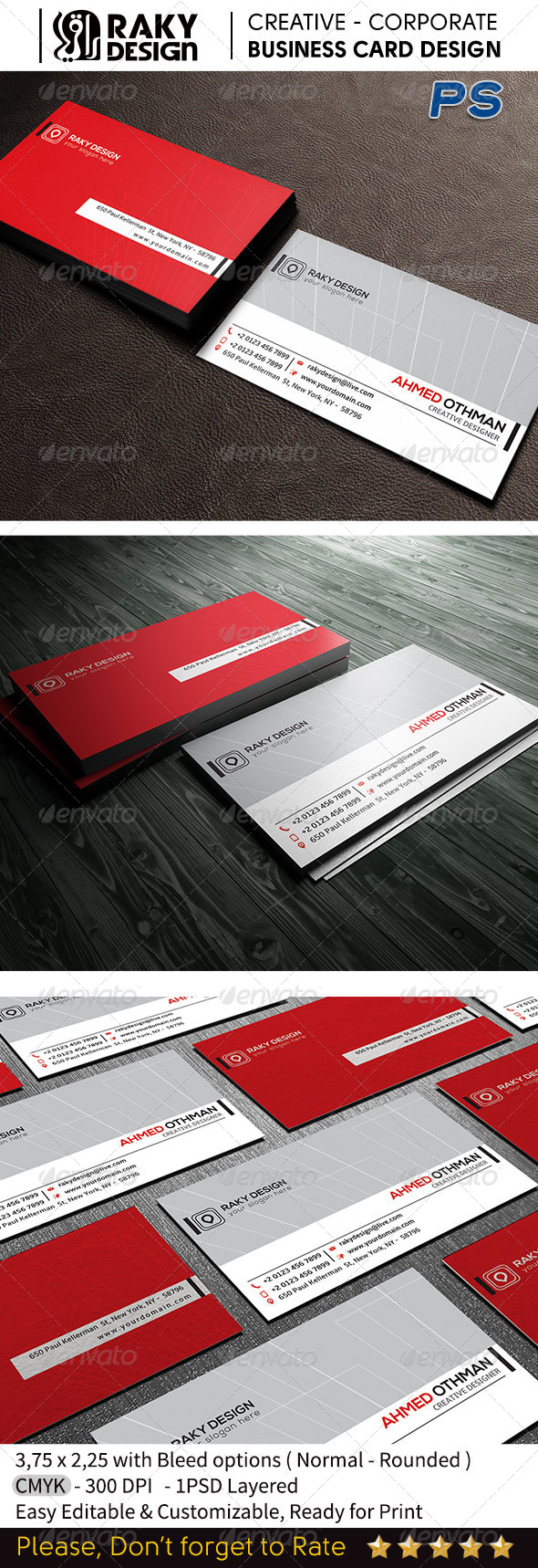 GraphicRiver Modern Business Card RD17 7652318